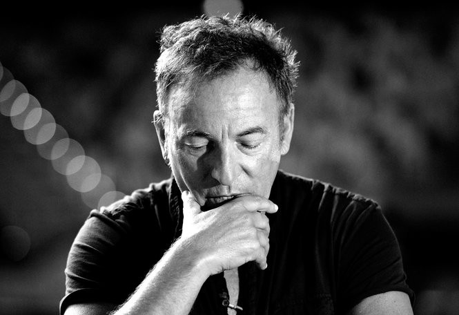 Bruce Springsteen speaks to the media during a sound-check ahead of the first show of his Wrecking Ball Tour at Brisbane Entertainment Centre on March 14, 2013 in Brisbane, Australia.