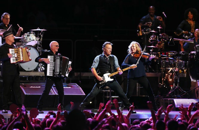 Bruce Springsteen with the E Street Band during his Wrecking Ball Tour at Allphones Arena on March 18, 2013 in Sydney, Australia.
