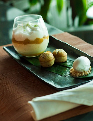 The coconut rice pudding served at Buddakan located at The Playground at Caesar's in Atlantic City.