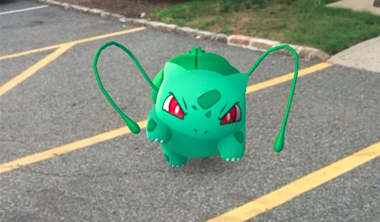 An angry Bulbasaur tries to evade capture. (Sydney Shaw | NJ Advance Media for NJ.com)