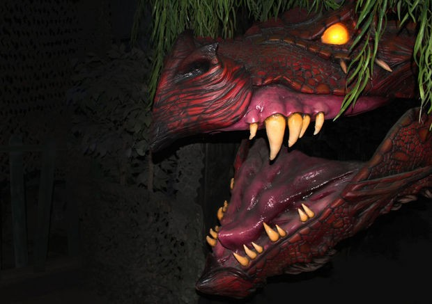 The dragon-in-residence at Haunted Scarehouse in Wharton. (Haunted Scarehouse)
