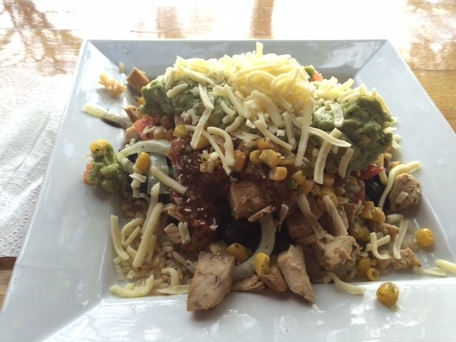 A burrito 'bowl' is served up something fierce at the MeanBean in Downtown Toms River.