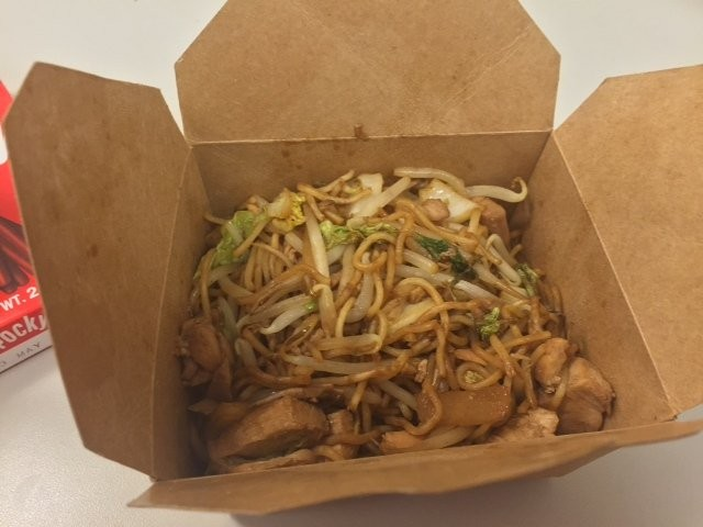 The yakisoba noodles from Ms. Wu's Food Truck (we sampled these in Metropark).