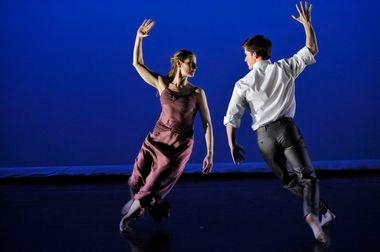 Jenn Weddel and Spencer Ramirez of the Mark Morris Dance Group in 'Jenn and Spencer'