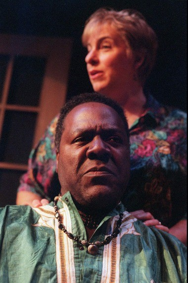 Frankie Faison of Montclair is Michael Crowther and his real-life wife Jane Mandel plays Elizabeth Crowther his stage wife in 'Fancies' at the Luna Theatre in Montclair