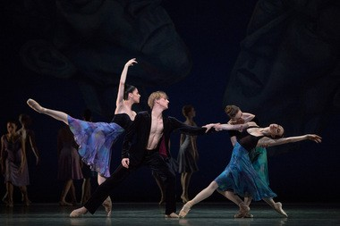 "Paloma Herrera, David Hallberg, Julie Kent and Isabella Boylston in American Ballet Theatre's ""Shostakovich Trilogy"""