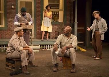 Phil McGlaston, G. Alvarez Reid, Portia, Esau Pritchett and Jared McNeil in 'Fences' at the McCarter Theatre