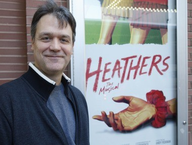 "Portrait of Kevin Murphy, co-writer of ""Heathers the Musical, "" outside of New World Stages in New York"