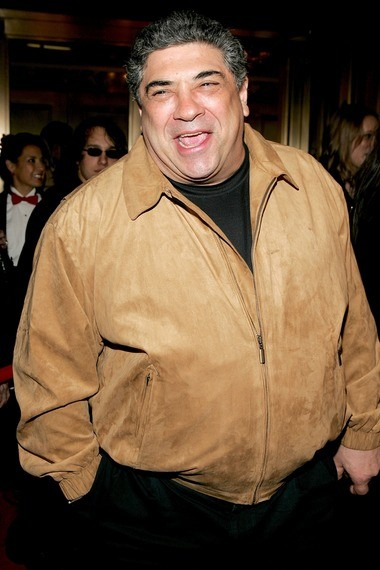 """Actor Vincent Pastore attends the opening night of """"Ring of Fire"""" at Ethel Barrymore Theatre March 12, 2006 in New York City."""