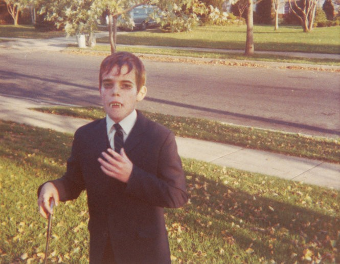 Author Mark Voger dresses up as Barnabas Collins for Halloween 1968.
