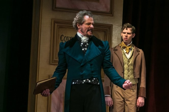 "David Andrew Macdonald and Garrett Lawson are 19th century actors in ""Red Velvet,"" a play by Lolita Chakrabarti at The Shakespeare Theatre of New Jersey (Photo by Jerry Dalia)"