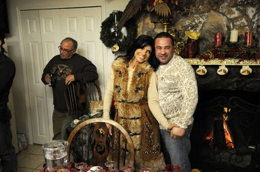 """Frank Giudice, left, with son Joe and Joe's wife Teresa on """"Real Housewives of New Jersey."""""""