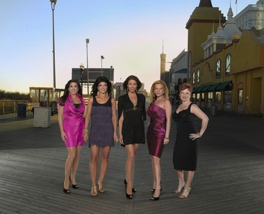 """The inaugural cast of """"Real Housewives of New Jersey"""" featured, from left, Jacqueline Laurita, Teresa Giudice, Danielle Staub, Dina Manzo, and Caroline Manzo. Teresa is the only housewife to appear as a regular on all six seasons."""