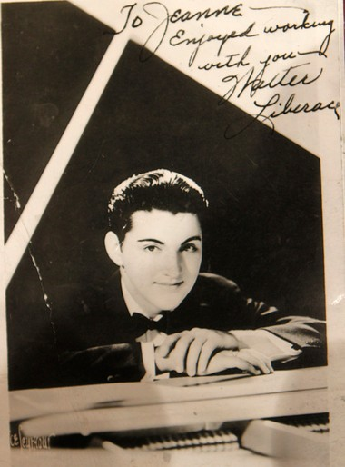 A autographed photo from Liberace is among the memorabilia in Pals Cabin.