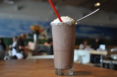 The most excellent chocolate shake at Zinburger, Clifton.