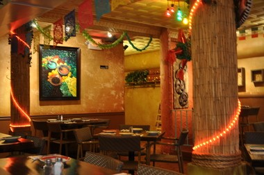 The cute, kitschy interior at Casa Piquin, Montclair