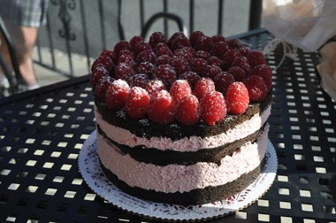 The chocolate raspberry cake at Sorrento was one of the day's most popular cakes.