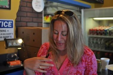Abbey Bell feels the heat at Big Daddy's Dogs in Little Falls.