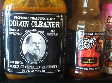 There are dozens of hot sauces available at Big Daddy's.