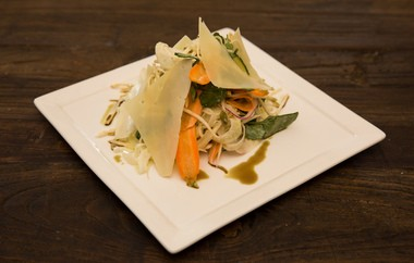 Rezza chef-owner John Bendokas' health salad offers up lettuce, fennel, carrot, celery root and more veggies with pecorino Romano, lemon and olive oil.
