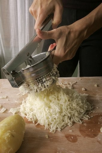 A potato ricer insures your mashed potatoes are lump free.
