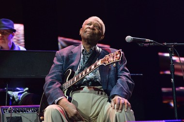 B.B. King, appearing at the Crossroads Guitar Festival on Friday, April 12.