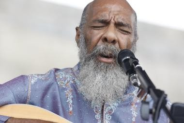 Richie Havens, performing at the 2008 Newport Folk Festival at Fort Adams State Park in Newport, R.I. .