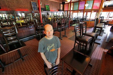 Maxwell's, owner, Todd Abramson in the venue's dining room.
