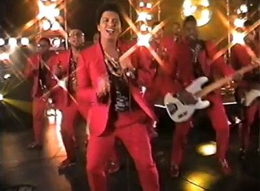 """Not actually on """"Solid Gold"""": Bruno Mars and his band."""