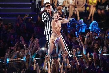Miley Cyrus and Robin Thicke: Not so different.