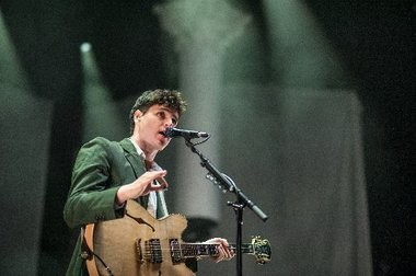 Though we live on the U.S. dollar, you and me, we have our own sense of time: Ezra Koenig at Barclays Center.