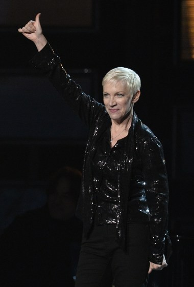 Annie Lennox performs on stage at the 57th Annual Grammy Awards in Los Angeles February 8, 2015.