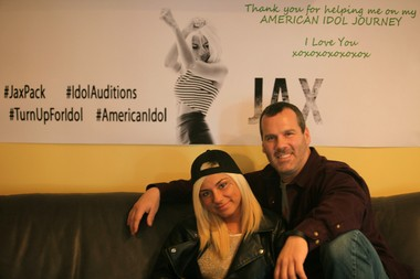 """""""American Idol"""" contestant Jax, with her father John Miskanic, at her home in East Brunswick."""