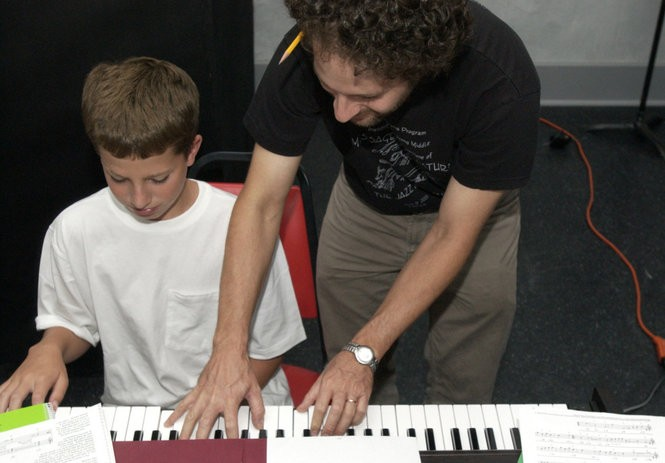 Charlie Puth, at age 12, during a jazz workshop at the Count Basie Theatre's Cool School, in Red Bank, 2004. (VIC YEPELLO/THE STAR-LEDGER)