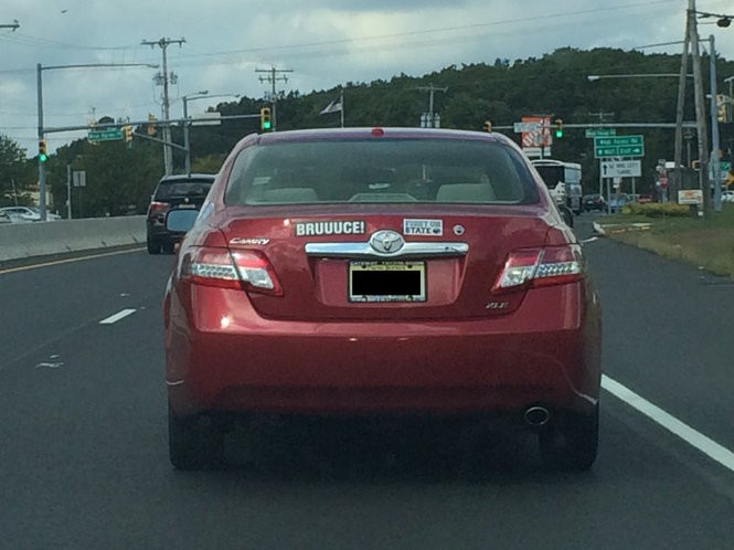 A driver on Route 9 in Howell, who clearly loves BRUUUUCE. (Bobby Olivier | NJ Advance Media for NJ.com)