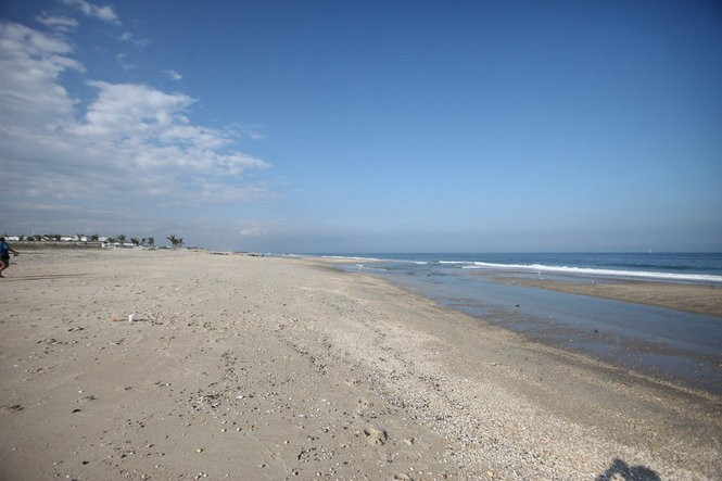 The beach at Sea Bright, where Springsteen sat on Sept. 11, 2001. (Bobby Olivier | NJ Advance Media for NJ.com)
