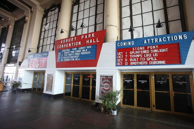 Outside Convention Hall in Asbury Park, where Springsteen saw The Doors, and would later play himself more than 50 times. (Bobby Olivier | NJ Advance Media for NJ.com)