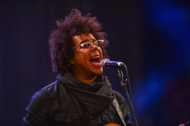 E Street saxophonist Jake Clemons and his band at the 17th annual Light of Day Bob's Birthday Bash show at The Paramount Theatre in Asbury Park, Jan. 14, 2017. (Mark Brown | For NJ.com)
