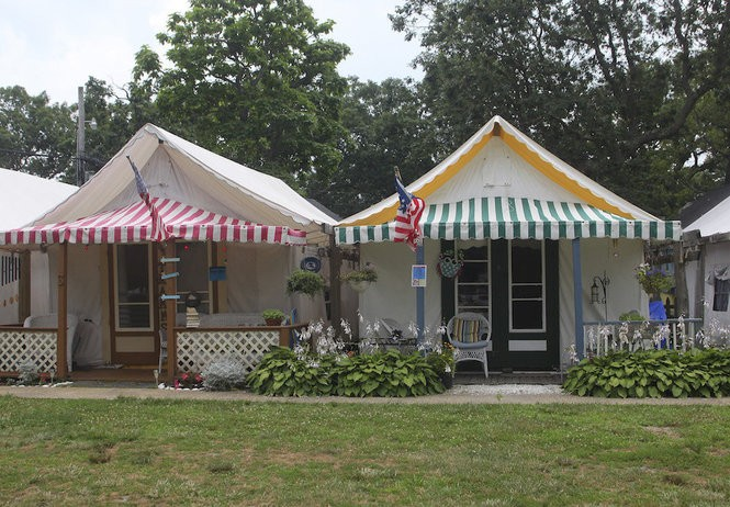 A row of the tent summer homes in Ocean Grove, 2013 file photo. (Alex Remnick/The Star-Ledger)