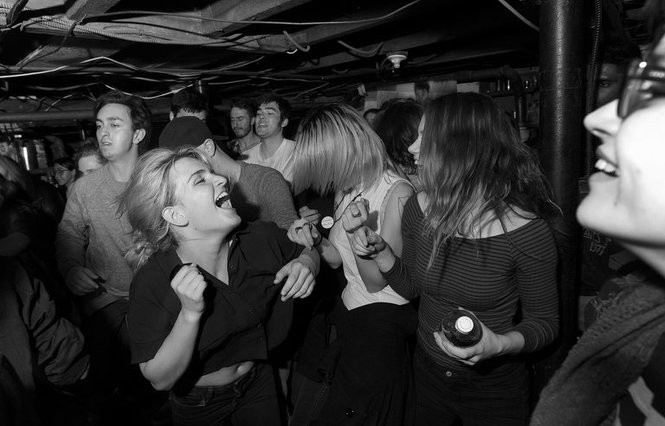 Fans dance at a basement show in New Brunswick, March 24, 2017. (Matthew Smith | For NJ.com)