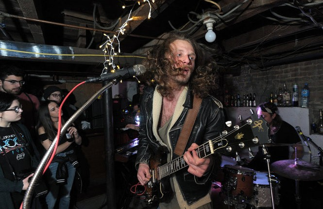 Deal Casino, a rock band from Asbury Park, performs at a basement show in New Brunswick, March 24, 2017. (Matthew Smith | For NJ.com)