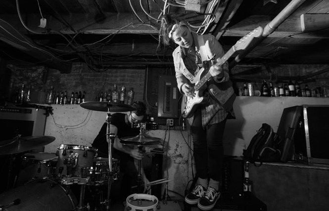 The Vaughns, a rock band from Springfield, performs at a basement show in New Brunswick, March 24, 2017. (Matthew Smith | For NJ.com)