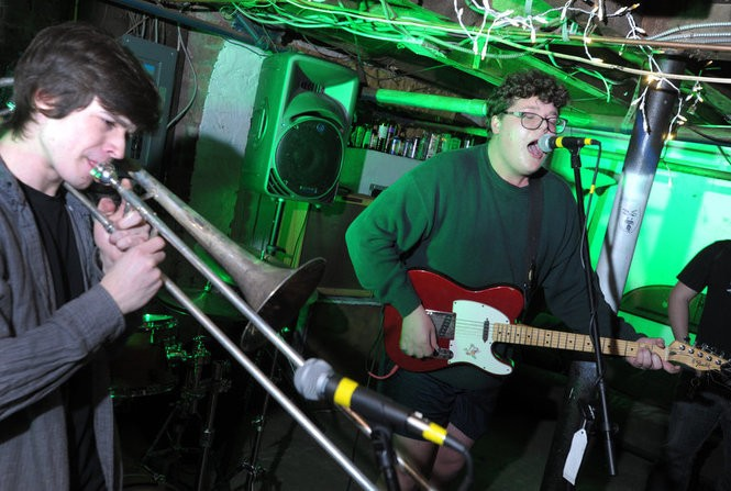 Teenage Halloween, a punk band from Asbury Park, performs at a basement show in New Brunswick, March 24, 2017. (Matthew Smith | For NJ.com)