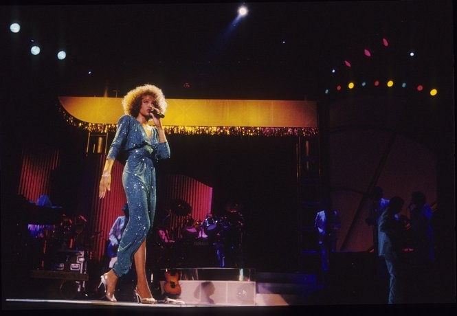 """Whitney Houston in concert at Garden State Art Center in August 1986, a few months before she'd fly to California to record """"Whitney."""" (Star-Ledger file photo)"""