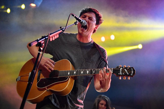 New Jersey's The Front Bottoms perform at The Fillmore in Philadelphia, Nov. 22, 2017.