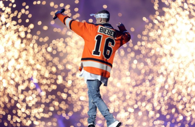 Justin Bieber performs his Purpose World Tour at the Wells Fargo Center in Philadelphia, May 7, 2016. (Tim Hawk | For NJ.com)