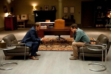 Hugh Dancy's FBI profiler Will Graham seeks counsel from psychiatrist Hannibal Lecter (Mads Mikkelsen), who has unique insight into troubled minds.