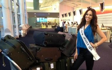 Seven suitcases later, Libell Duran, Miss New Jersey USA, was ready for Vegas, home to Miss USA 2013.