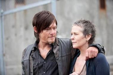"""Daryl and Carol share a tender moment in the prison. """"The Walking Dead"""" Season 4 premiered tonight."""