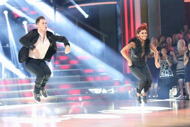 Polizzi, competing with partner Sasha Farber in 'Dancing with the Stars.'